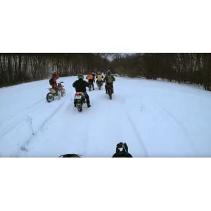 Зимний мотопробег под Курском