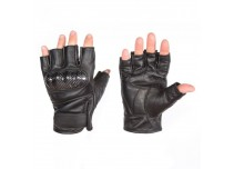 Кожаные мотоперчатки без пальцев BOSA